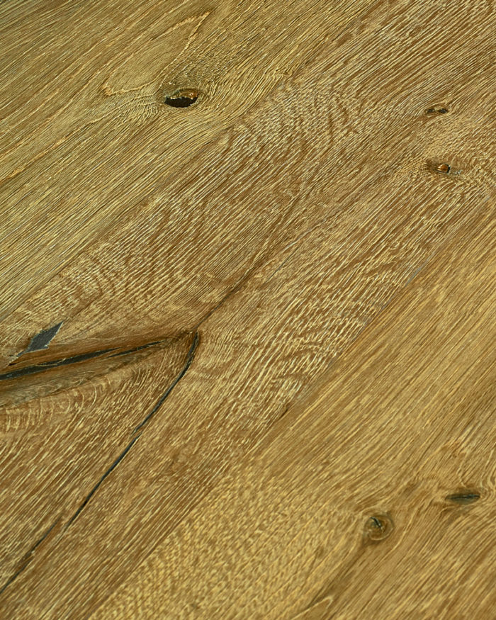 Oak extra wide plank brushed stained oiled Arena