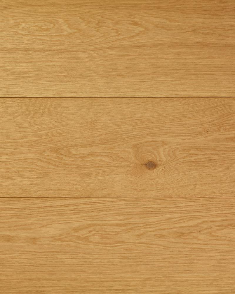 Oak wide plank solid brushed oiled Brut