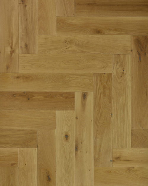 Oak herringbone parquet plank brushed and oiled Caligo