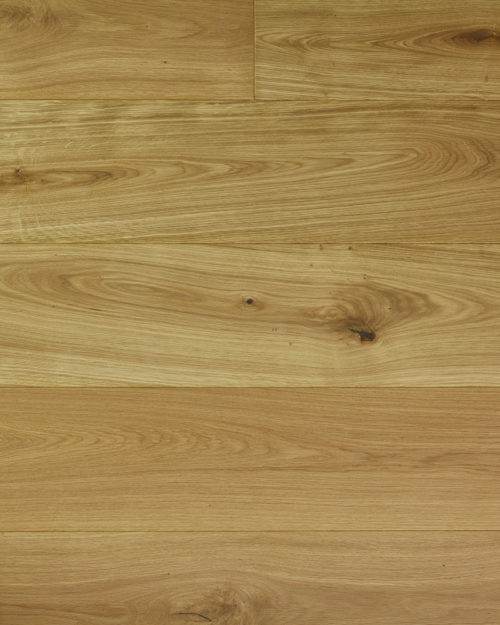 Oak extra wide plank flat sanded white oiled Castus