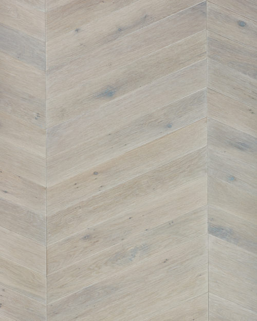 Oak chevron parquet plank brushed and oiled Clara