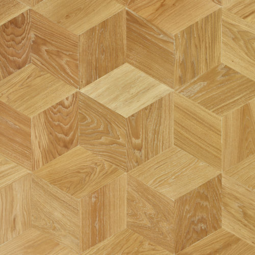 Oak engineered Cube pattern custom finish