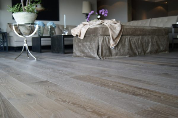 oak wide plank brushed planed smoked oiled