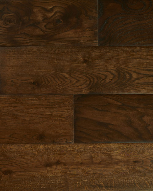 Oak super wide plank brushed smoked oiled Draco