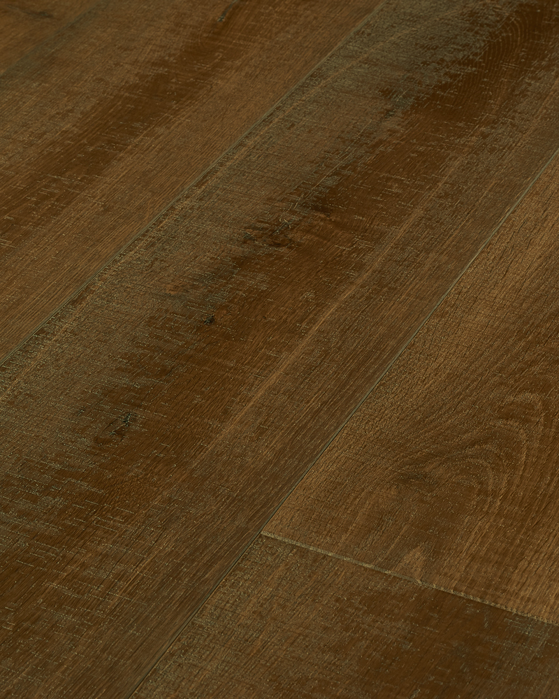 Oak semi solid extra wide plank brushed oiled smoked El Rey