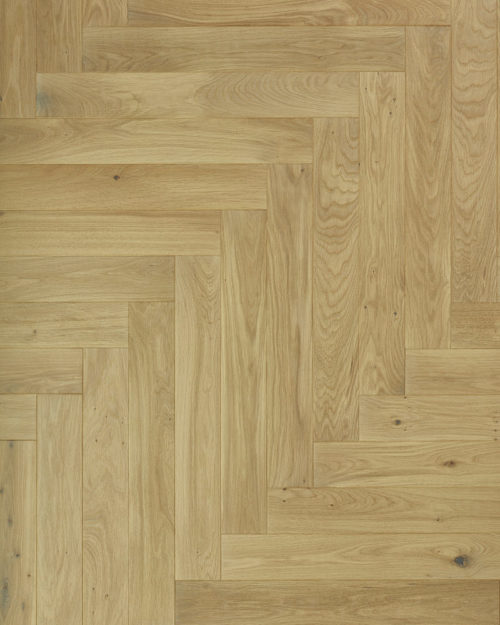 Oak herringbone parquet plank brushed and oiled Emma