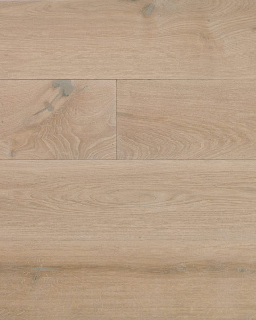 Oak wide plank engineered brushed white oiled Extra White