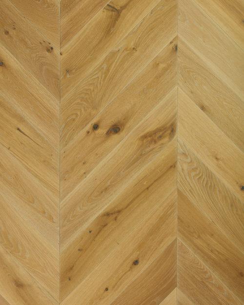 Oak chevron parquet engineered brushed white oiled Fiorentino