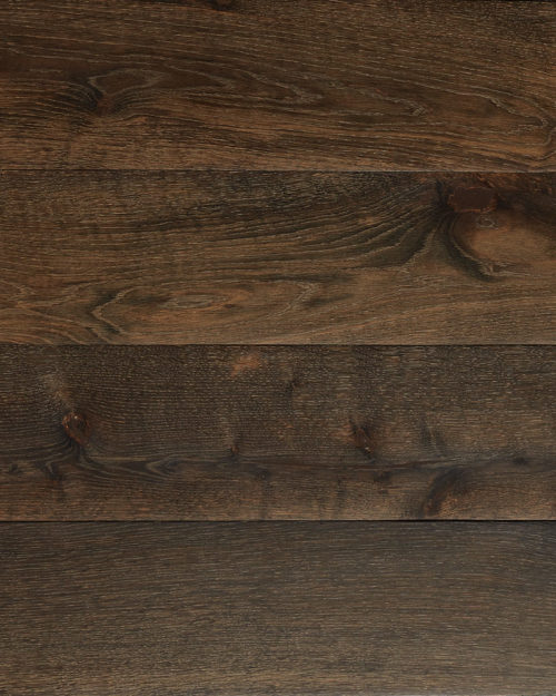 Oak extra wide plank brushed smoked oiled Haya Polished
