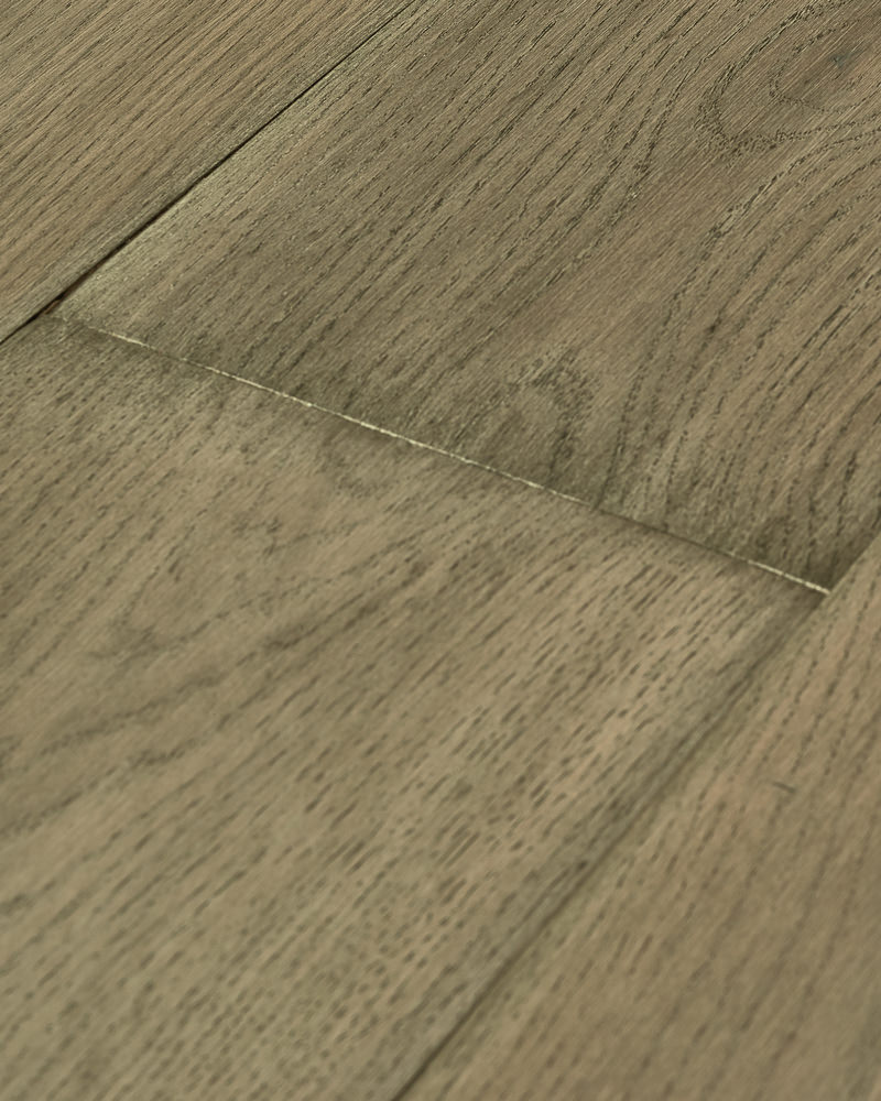 Oak extra wide plank sanded grey oiled bevel Haze