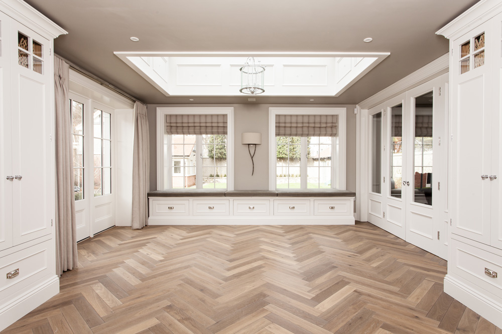 terra mater oak herringbone parquet smoked brushed oiled solid construction
