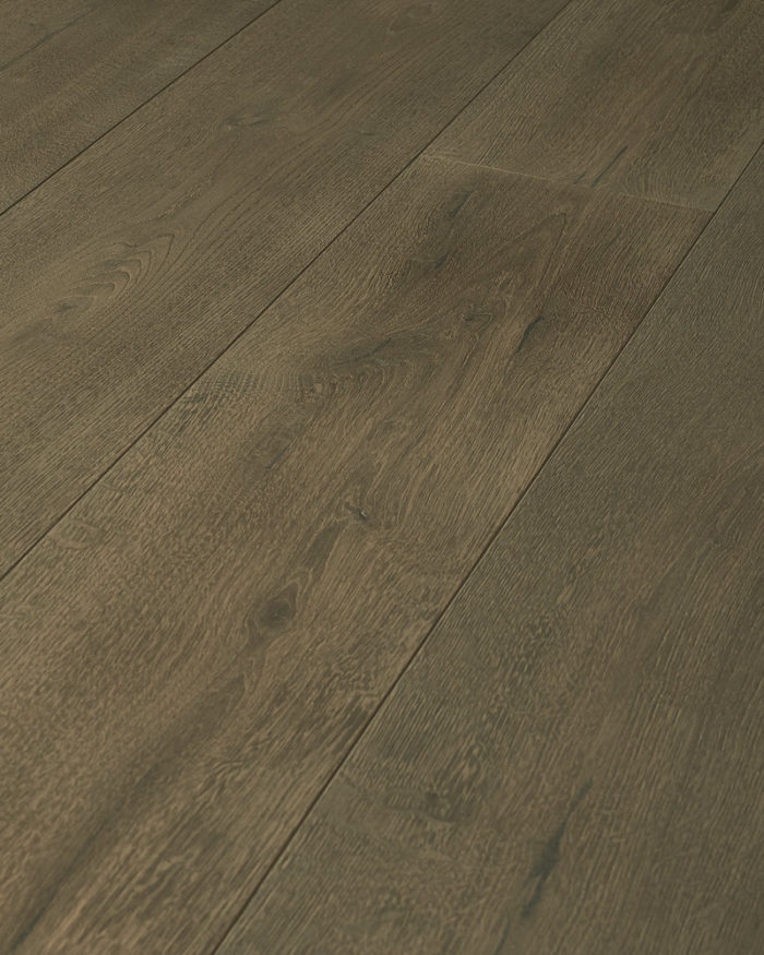 Oak extra wide plank brushed stained oiled Italian Grey