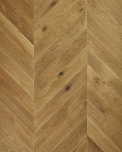 Oak chevron parquet brushed and oiled Minerale