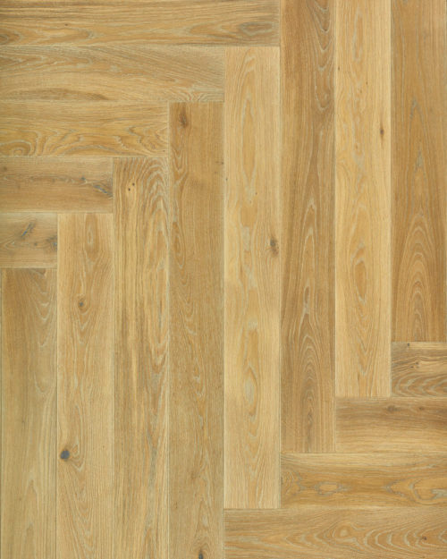 Oak herringbone parquet brushed oiled Modena