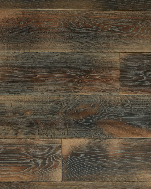 Oak super wide plank brushed smoked oiled scraped Modum