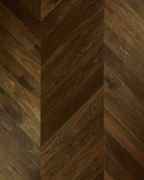 Oak chevron parquet brushed smoked oiled Partagas