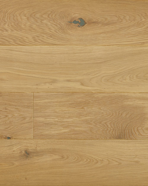 Oak extra wide plank solid sanded white oiled Serra