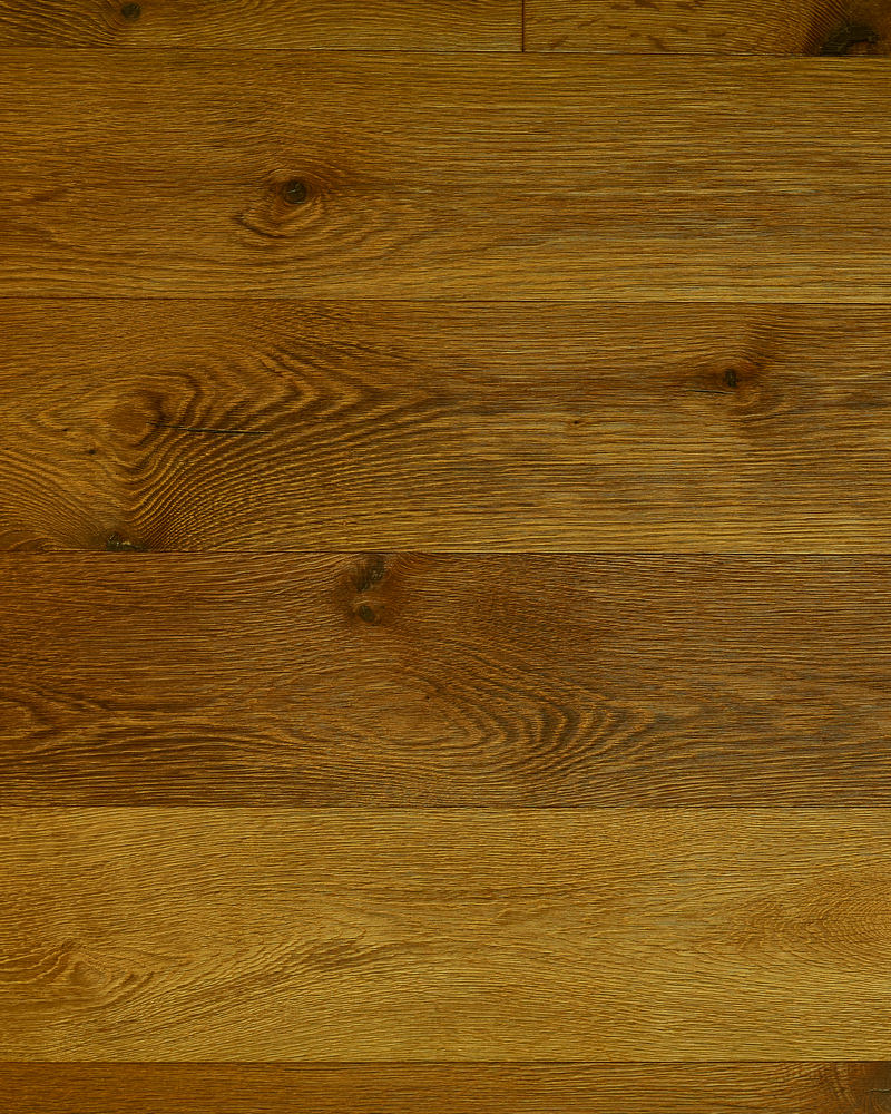 Oak extra wide plank brushed stained oiled Strombo