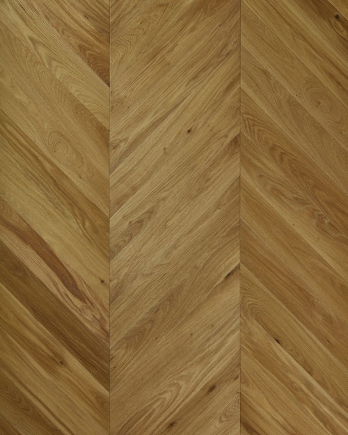 Oak chevron parquet plank brushed smoked and oiled Substantia