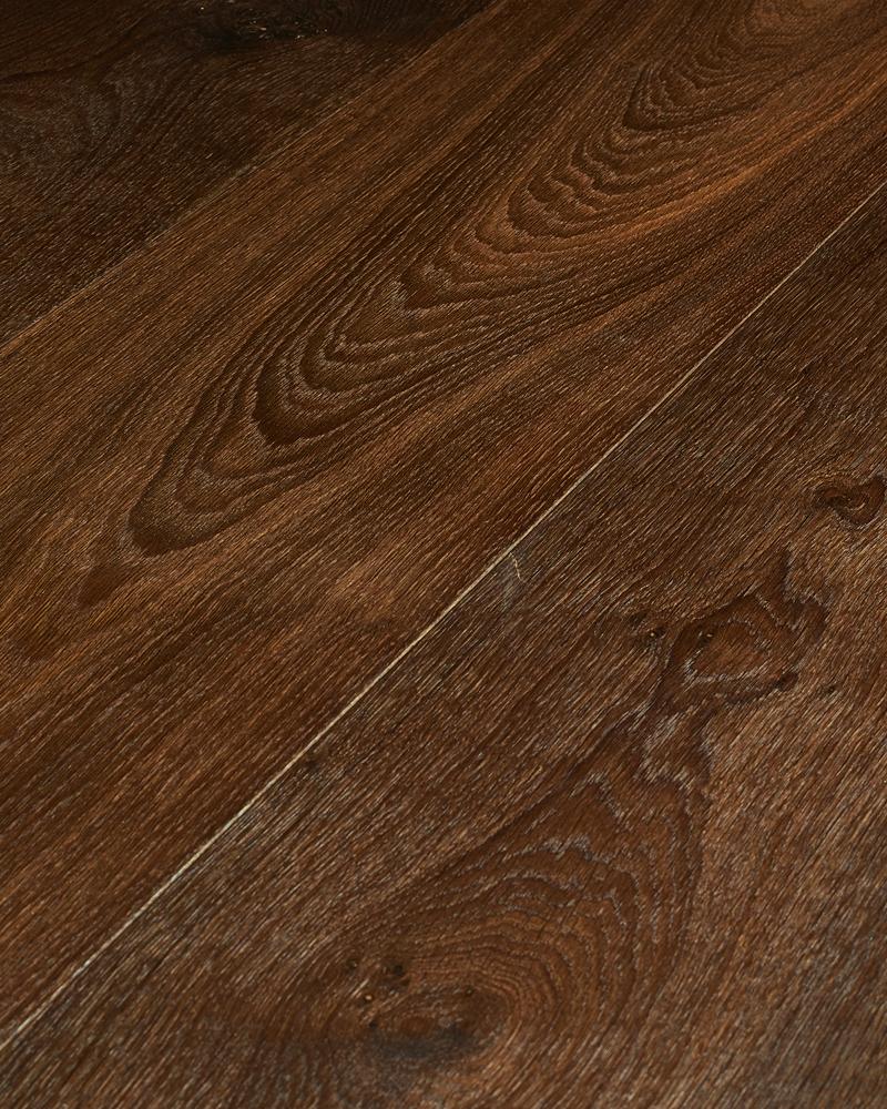Oak extra wide plank brushed smoked oiled Zebra Dark Smoked