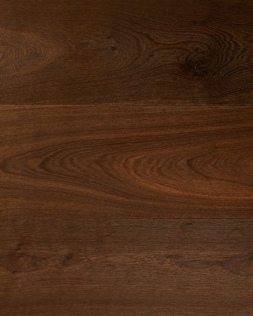 Oak extra wide plank brushed smoked oiled Zebra Dark Smoked