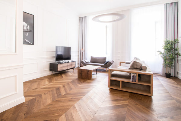 oak chevron parquet smoked brushed oiled solid construction