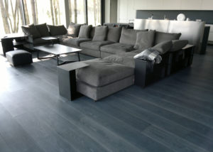 Oak wide plank smoked brushed stained oiled