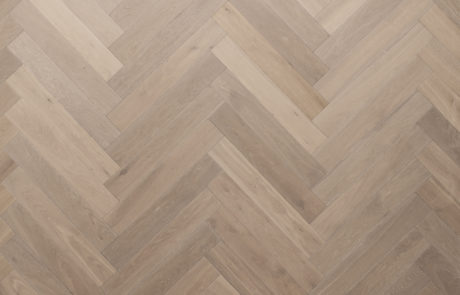Oak herringbone parquet brushed smoked oiled