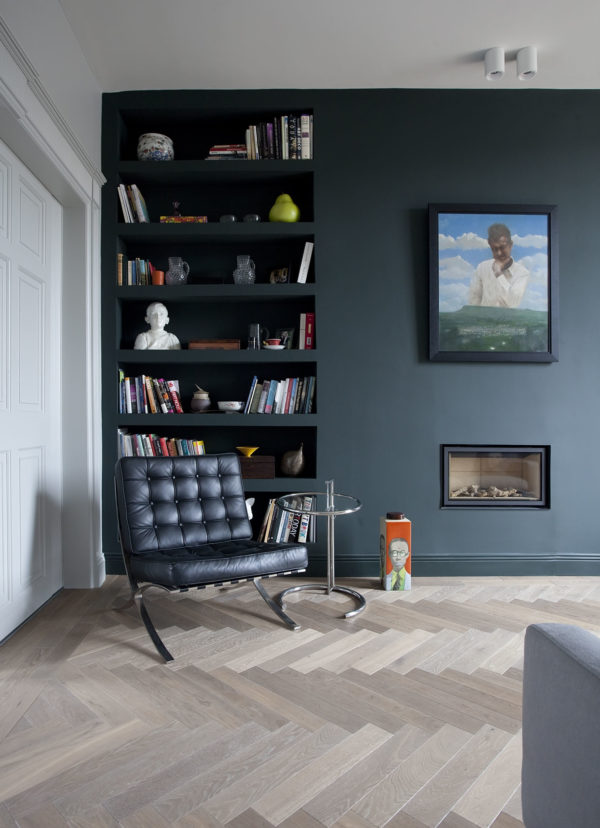 oak herringbone parquet smoked brushed oiled